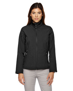 Wholesale Ash City - Core 365 78184 Ladies' Cruise Two-Layer Fleece Bonded Soft Shell Jacket - BLACK 703