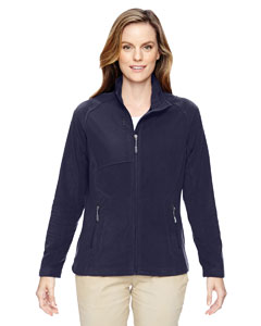 78215 Ladies' Excursion Trail Fabric-Block Fleece Jacket
