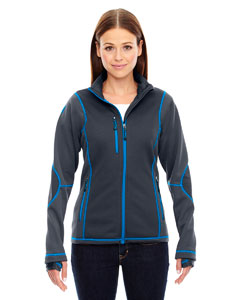 78681 Ladies' Pulse Textured Bonded Fleece Jacket with Print
