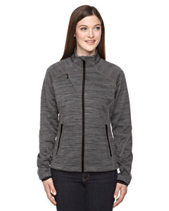 Wholesale Ash City - North End Sport Red 78697 Ladies' Flux Mélange Bonded Fleece Jacket - CARBON/ BLK 456