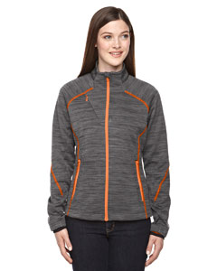 78697 Ladies' Flux Mélange Bonded Fleece Jacket