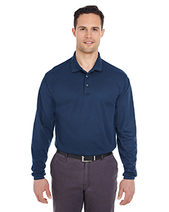8210LS Adult Cool & Dry Long-Sleeve Mesh Piqué Polo