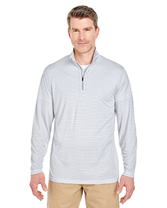 8235 Adult  Striped Quarter-Zip Pullover