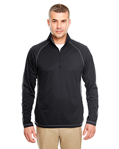 8398 Adult Cool & Dry Sport Quarter-Zip Pullover with Side & Sleeve Panels