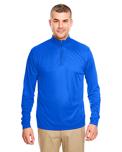 8424 Men's Cool & Dry Sport Performance Interlock Quarter-Zip Pullover