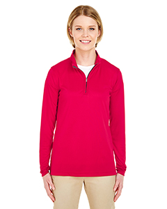 8424L Ladies' Cool & Dry Sport Performance Interlock Quarter-Zip Pullover