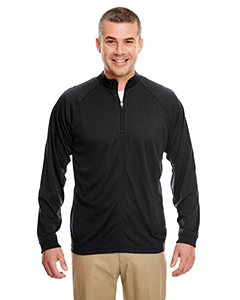 8432 Adult Cool & Dry Sport Quarter-Zip Pullover with Side Panels