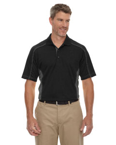 Wholesale Ash City - Extreme 85113 Men's Eperformance™ Fuse Snag Protection Plus Colorblock Polo - BLACK 703