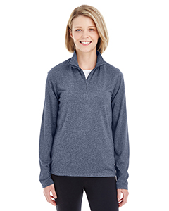 8618W Ladies' Cool & Dry Heathered Performance Quarter-Zip