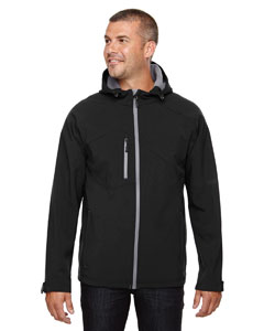 Wholesale Ash City - North End 88166 Men's Prospect Two-Layer Fleece Bonded Soft Shell Hooded Jacket - BLACK 703