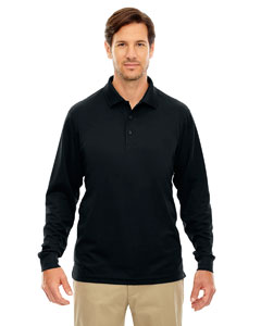 Wholesale Ash City - Core 365 88192 Men's Pinnacle Performance Long-Sleeve Piqué Polo - BLACK 703