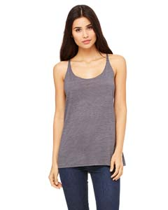 Wholesale Bella + Canvas 8838 Ladies' Slouchy Tank - ASPHALT SLUB