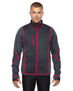 88681 Men's Pulse Textured Bonded Fleece Jacket with Print