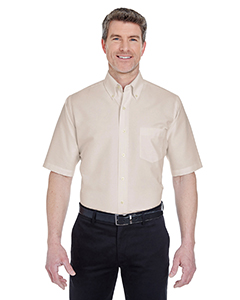 8972 Men's Men's Classic Wrinkle-Resistant Short-Sleeve Oxford
