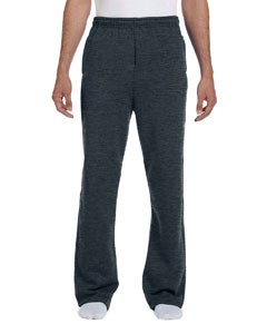 974MP Adult 8 oz. NuBlend® Open-Bottom Fleece Sweatpants