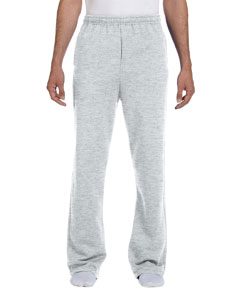 Wholesale Jerzees 974MP Adult 8 oz. NuBlend® Open-Bottom Fleece Sweatpants - ASH