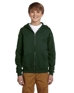 993B Youth 8 oz. NuBlend® Fleece Full-Zip Hood