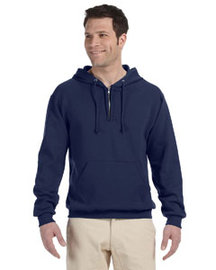 994MR Adult 8 oz. NuBlend® Fleece Quarter-Zip Pullover Hood