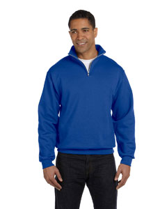 995M Adult 8 oz. NuBlend® Quarter-Zip Cadet Collar Sweatshirt