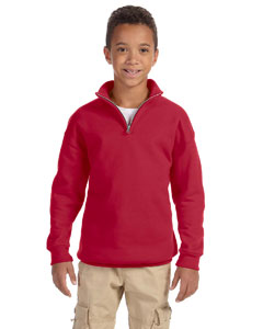 995Y Youth 8 oz. NuBlend® Quarter-Zip Cadet Collar Sweatshirt