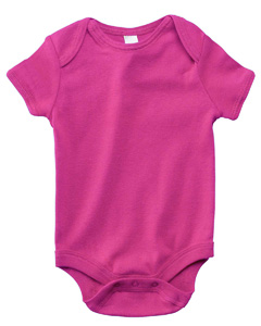 B100 Infant Short-Sleeve Baby Rib One-Piece