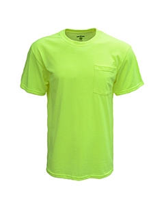 Wholesale Bright Shield B116 Adult Pocket Tee - SAFETY GREEN