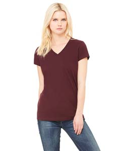 B6005 Ladies' Jersey Short-Sleeve V-Neck T-Shirt