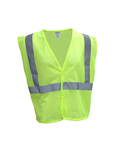 Wholesale Bright Shield B809 Adult Mesh Vest - SAFETY GREEN