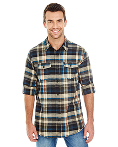 Blank Burnside Mens Plaid Flannel Shirt