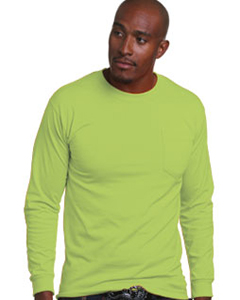 BA1730 Adult Adult Long-Sleeve Tee with Pocket