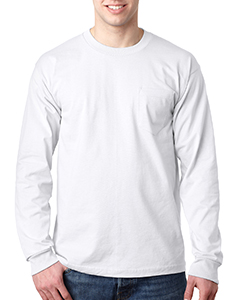 BA8100 Adult Adult Long-Sleeve Tee with Pocket