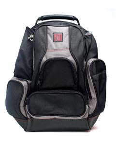 Wholesale FUL BD5333 Alleyway Groundbreaker Backpack - BLACK/ TITANIUM