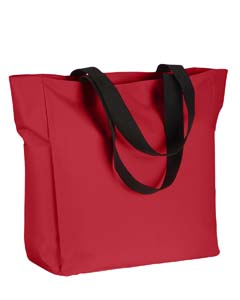 BE080 Polyester Zip Tote