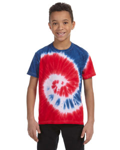 CD100Y Youth 5.4 oz., 100% Cotton Tie-Dyed T-Shirt