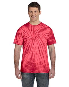 CD101 Adult 5.4 oz., 100% Cotton Spider Tie Dye T-shirt