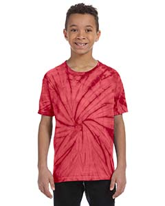 CD101Y Youth 5.4 oz., 100% Cotton Spider Tie-Dyed T-Shirt