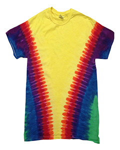 CD1140 Adult Rainbow Pattern Tie-Dyed Tee