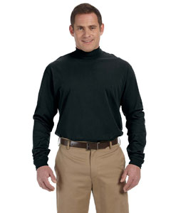 Wholesale Devon & Jones D420 Adult Sueded Cotton Jersey Mock Turtleneck - BLACK