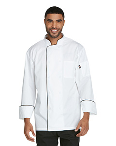 DC411 Unisex Cool Breeze Chef Coat with Piping