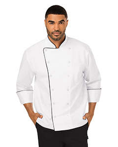 DC42B Unisex Executive Chef Coat with Piping