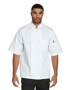DC48 Unisex Classic Knot Button Short Sleeve Chef Coat