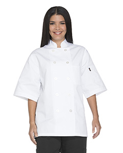DC49 Unisex Classic 10 Button Short Sleeve Chef Coat