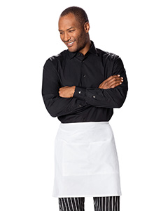 DC57 Half Bistro Waist Apron with 2 Pockets