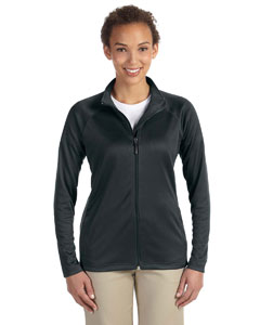 Wholesale Devon & Jones DG420W Ladies' Stretch Tech-Shell® Compass Full-Zip - BLACK