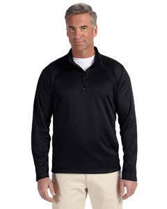 Wholesale Devon & Jones DG440 Men's Stretch Tech-Shell® Compass Quarter-Zip - BLACK