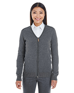 DG478W Ladies' Manchester Fully-Fashioned Full-zip Sweater