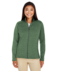 DG796W Ladies' Newbury Colorblock Mélange Fleece Full-zip