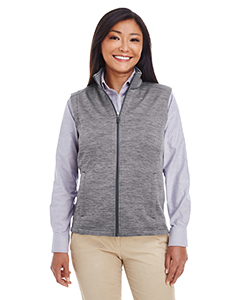 DG797W Ladies' Newbury Mélange Fleece Vest