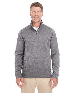 DG798 Men's Newbury Mélange Fleece Quarter-zip