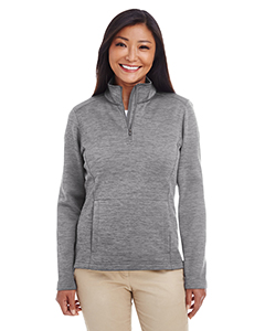 DG798W Ladies' Newbury Mélange Fleece Quarter-zip